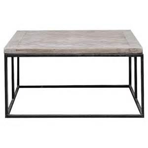 Metal Frame Coffee Table Moshe Industrial Metal Frame Basketweave Wood Top Coffee Table Kathy Kuo Home