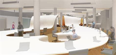 designboom desk clive wilkinson designs undulating desk for the barbarian