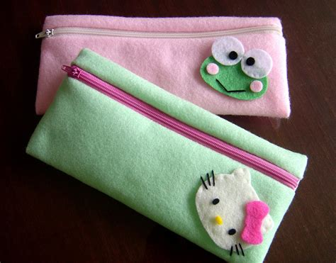 Kotak Pensil 2 Resleting pin dompet flanel cake on