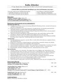 sle resume for preschool preschool resume sle page 1 28 images tennessee resume