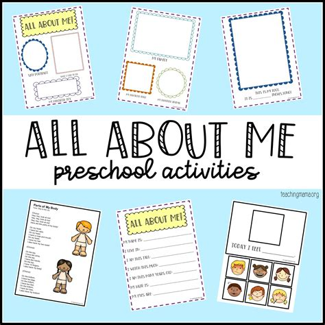 All Themes all about me preschool theme