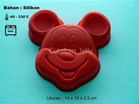 Cetakan Silikon Puding Kue I cetakan silikon kue puding mickey cetakan jelly