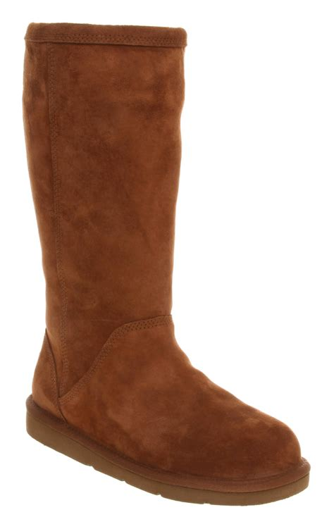 womens brown suede boots womens ugg australia kenly mid calf chestnut brown suede