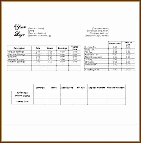 6 Free Pay Stub Template In Word Sletemplatess Sletemplatess Independent Contractor Pay Stub Template