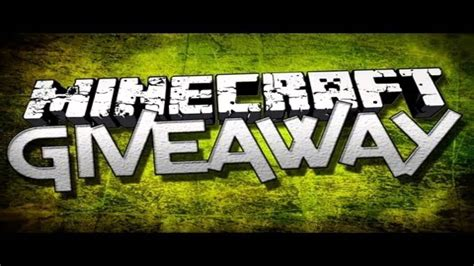 Minecraft Giveaway - minecraft giveaway open youtube