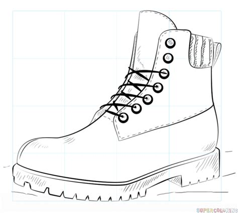 Boots Drawing how to draw a hiking boot step by step drawing tutorials