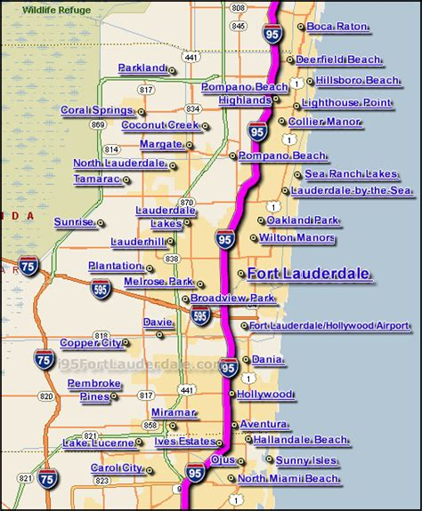 fort lauderdale map i 95 fort lauderdale traffic maps and road conditions