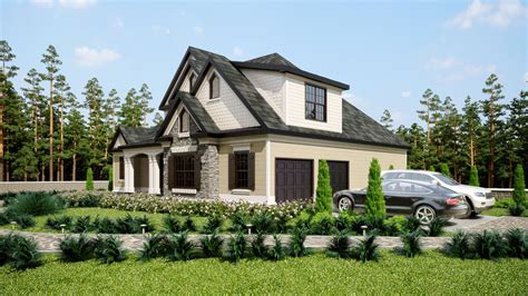 Three Story Southern Style House Plan With Front Porch Southern House Plans With Garage