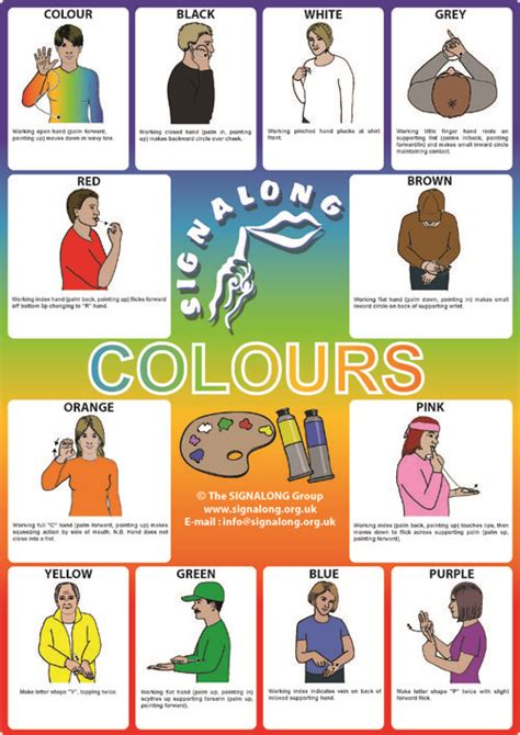 sign language for colors colours bsl sign language sign language