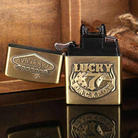 Korek Elektrik Besi Motif Lucky 7 Cool korek elektrik besi motif lucky 7 golden