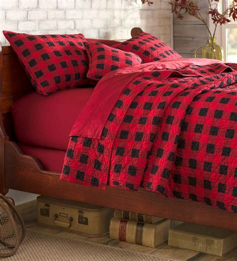 buffalo plaid comforter full queen buffalo plaid quilt set collection accessories