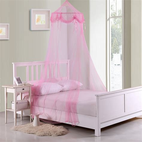 Sheer Bed Canopy Casablanca Buttons And Bows Collapsible Hoop Sheer Bed Canopy