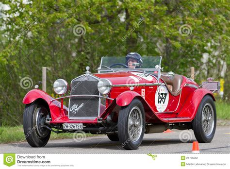Vintage Pre War Race Car Alfa Romeo Editorial Photography