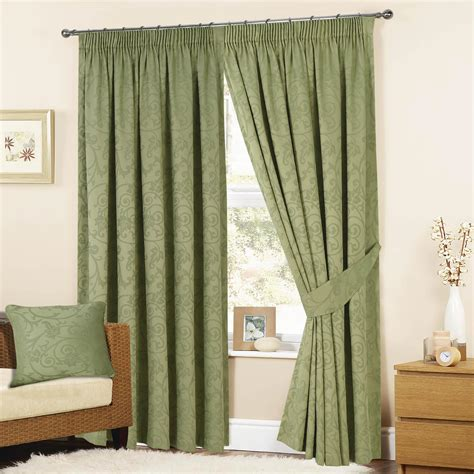 sage green curtains turin jacquard woven fully lined pencil pleat tape top