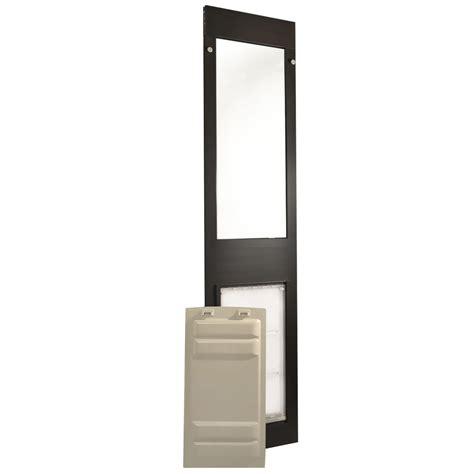 Endura Doors by Patio Pacific Endura Flap Panel 3 Bronze Frame