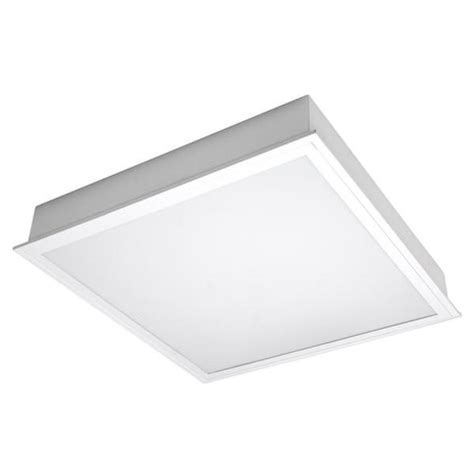 Tcp Lighting Fixtures Tcp 26324 2 X 2 45 Watt 120 Volt T8 3500k Dimming Led Troffer Fixture With Frosted White