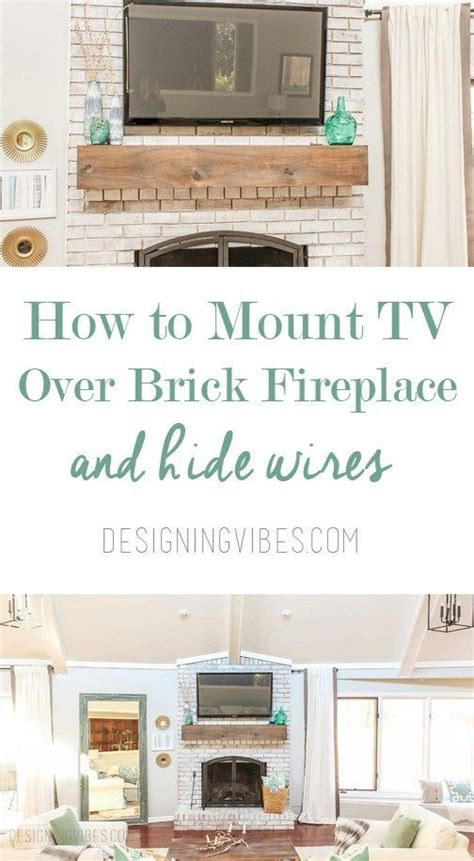 mount tv on brick fireplace hide wires how to mount a tv a brick fireplace and hide the wires fireplaces the white and living