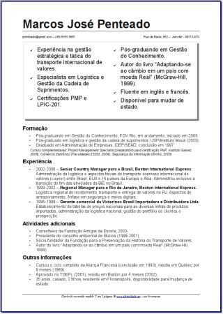 Modelo De Curriculum Vitae Funcional Doc Curr 237 Culo Curriculoempresaetrabalho