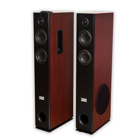 acoustic audio tsi500 bluetooth powered floorstanding