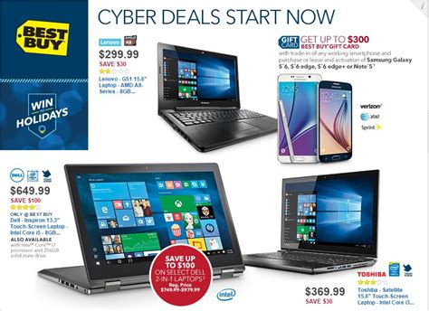 best cyber monday tablet deals best buy cyber monday 2015 deals on laptops tablets