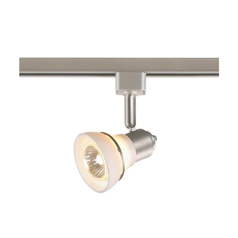Home Depot Track Lights by Commercial Electric 1 Light White Glass Linear Track