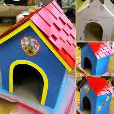 cardboard doghouse pets dog houses therapy