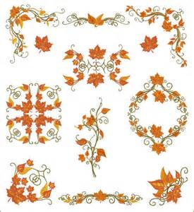 free fall machine embroidery designs fall motifs