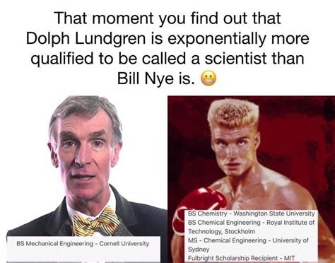 Bill Nye Meme - snopes says meme making fun of bill nye is true but