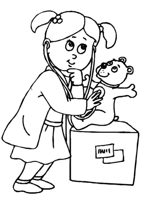 printable coloring sheets for elementary students doctor coloring pages for kids and elementary school