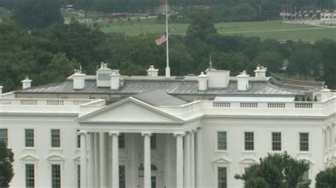 white house flag half staff white house u s capitol flags lowered to half staff cnn video
