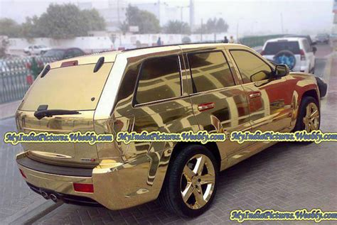 gold coating suv sport car funny unseen  india pictures
