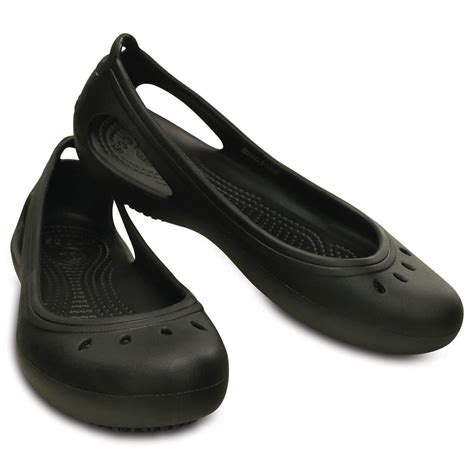 crocs kadee work flat black non slip ballet work