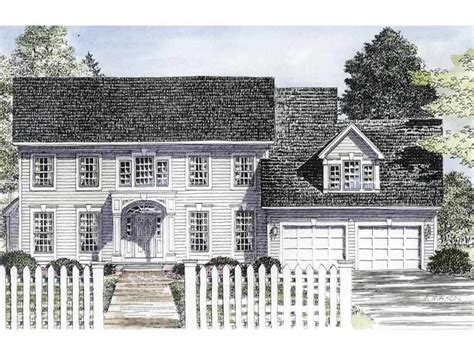 Traditional Colonial House Plans by Traditional Center Colonial 19580jf Architectural