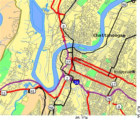 zip code map chattanooga tn chattanooga tennessee zip code map wisconsin map