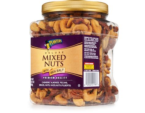 Planters Deluxe Mixed Nuts boxed planters deluxe mixed nuts with sea salt 34 oz