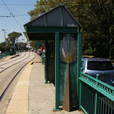 Philadelphia Public Art Peacock Light Rail Shelters Philadelphia Zoo Lights