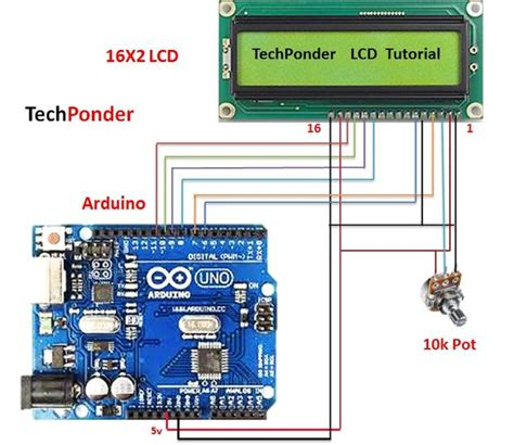 resistor lcd arduino how to interface lcd 16x2 to arduino