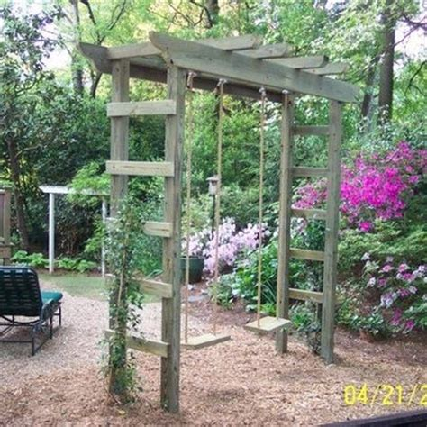 pergola swing set gardens design and nice on pinterest