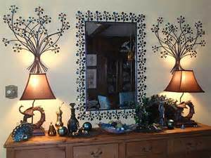 Peacock Themed Home Decor by Peacock Themed Console Table With Pier 1 Peacock Dazzle