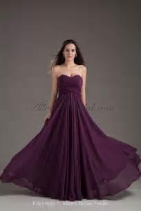 allens bridal chiffon sweetheart neckline column purple