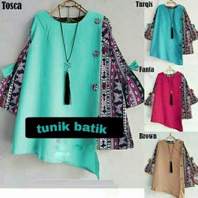 Baju Atasan Wanita Batik Tunic 5 baju atasan tunik wanita jual beli pakaian wanita erika tunic baju atasan wanita jual baju