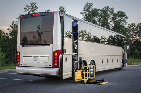 couch buses wheelchair accessible charter coach ada compliant