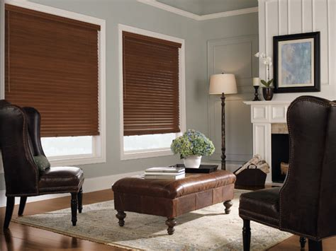 Living Room With White Wood Blinds Levolor 2 Quot Premium Wood Blinds From Blinds