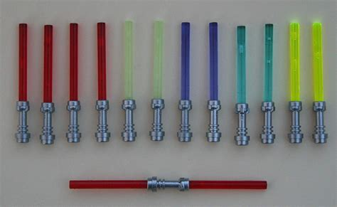 what does each lightsaber color lego wars lightsaber lot metallic hilts 13 total ebay