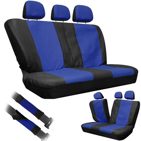 bench car seats 8pc oxgord blue pu faux leather low back rear bench truck