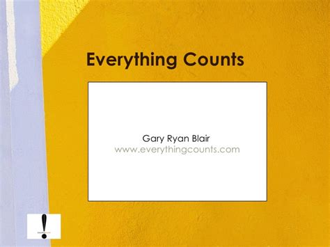 everything counts everything counts