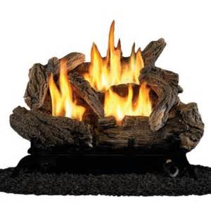procom 18 in vent free dual fuel gas fireplace logs