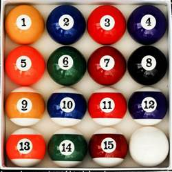 billiard colors number style pool table billiard set reg size and