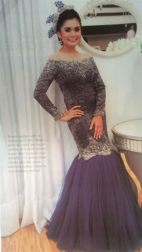 Longdres Songket 1000 images about wedding dress on receptions peplum and wedding dressses