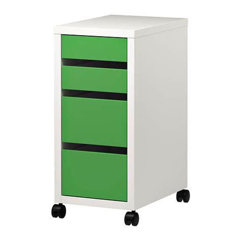 micke drawer unit on castors white green ikea